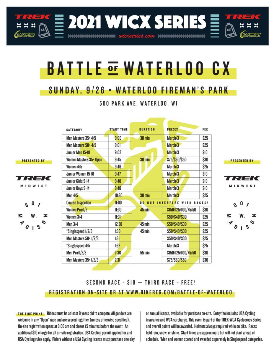 Battle of Waterloo CX 2021 Event Flyer
